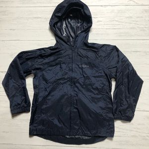 Boys The Lands End packable Rain Jacket Sz M 5-6
